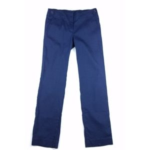 Theory navy blue Brione W linen blend trousers 2